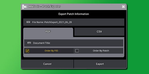 Patch Exporter